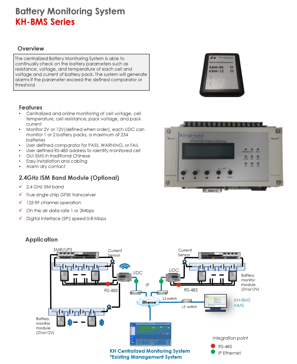 Kinghold Technology Single Cell Voltage Monitor Kh Bms Series